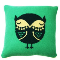 Owl Cushion - Green