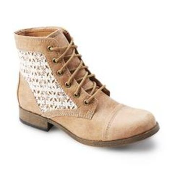 "Women's Raleigh 5"" Tan/Lace Combat Boot"