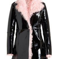 CHRISTOPHER KANE | Patent Shearling Coat | Browns fashion & designer clothes & clothing