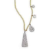 Meira T - Diamond, 14K Yellow & White Gold Triangle Pendant Necklace - Saks Fifth Avenue Mobile