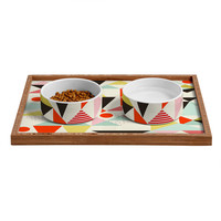Hello Twiggs Modern Art Pet Bowl and Tray