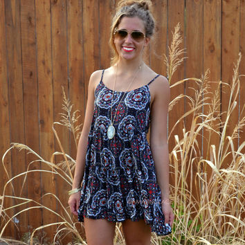 Good Karma Red Kaleidoscope Babydoll Dress