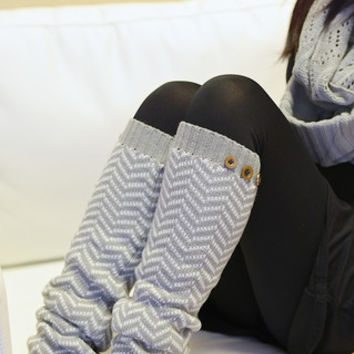 Vintage Herringbone Leg Warmers - Multiple Colors