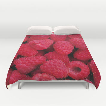 Pink Raspberry Duvet Cover by Erika Kaisersot