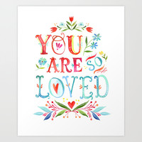 So Loved Art Print by Katie Daisy