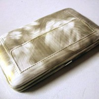 Fatty Flat Wallet Thick with Removable and Matching Checkbook, Cell Phone, Id Photos Holders 8001