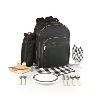 SheilaShrubs.com: Capri Picnic Tote & Backpack - Black 433-30-175-000-0 by Picnic Time : Picnic Baskets & Totes
