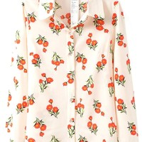 Red Floral Button Down Shirts - OASAP.com