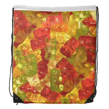 Gummy Bear Candy Drawstring Backpack