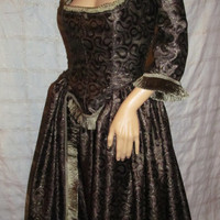 Lovely Handmade Historical Overdress with Tiered Skirt! Size 16 Large/XL/Women's/Misses/Boned Bodice/Reenactment, Victorian, Princess Dress