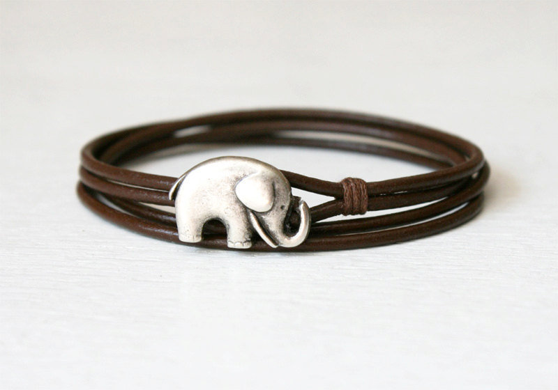 Friendship Double Wrap Leather Bracelet 10 by greenduckweed
