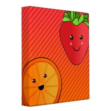 Cute Fruits Binder