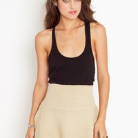 Knit Skater Skirt - Cream in  Sale at Nasty Gal