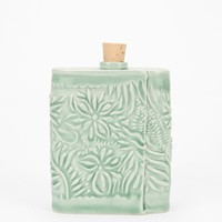 Chase Brown Floral Ceramic Flask - Urban Outfitters