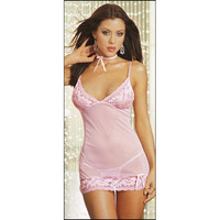 Romantic Pink Satin Grenadine Braces Skirt and Panty Set [TML0034] - £14.49 : Zentai, Sexy Lingerie, Zentai Suit, Chemise