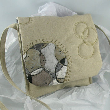 Circles of Stone Small Quilted Purse