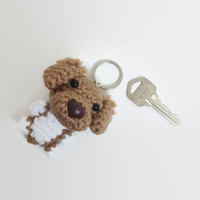 Nova Scotia Tolling Retriever Keychain Toller Dog Crochet Purse Charm Amigurumi Figurine Plush