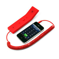 Vintage-Style Mobile Headset - Red