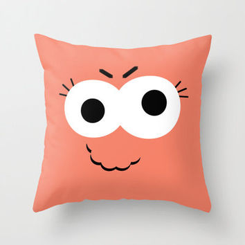 Orange Monster Pillow Cover - Cover Only