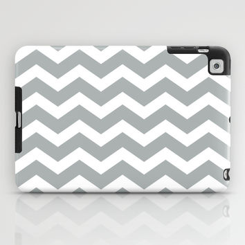 Chevron Grey & White iPad Case by BeautifulHomes | Society6