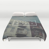 Keep It Simple Duvet Cover by Zeke Tucker