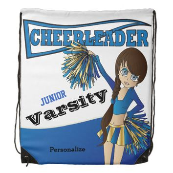 Cheerleader Personalize Backpacks -Blue