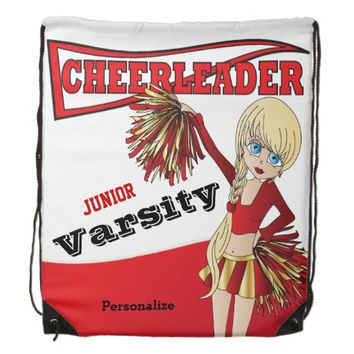 Cheerleader Personalize Backpacks -Red