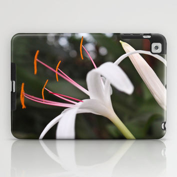 White Lily iPad Case by Legends of Darkness Photography