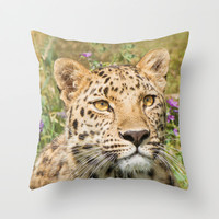 LEOPARD LOVE Throw Pillow by Catspaws   Society6