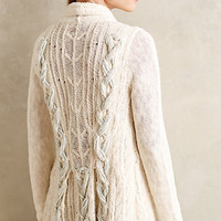 Silvered Braid Cardigan by Knitted & Knotted Ivory