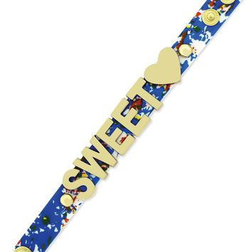 BCBGeneration Gold-Tone Sweetheart Patterned Snap Bracelet