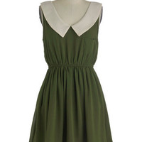 Olive Our Attention Dress | Mod Retro Vintage Dresses | ModCloth.com