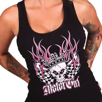 "Women's ""Speed Queen"" Tank by Motorgirls (Black)"