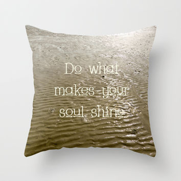 Soul Throw Pillow by Alice Gosling | Society6