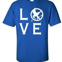 Adult Royal I Love The Hunger Games T-Shirt