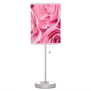 Pink Roses Table Lamp