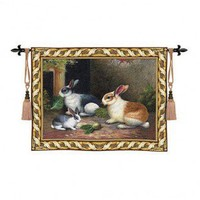 Fine Art Tapestries Lapin Tapestry - 2276-WH / 2474-WH - Decor