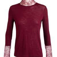NINA RICCI | Lace Trim Top | Browns fashion & designer clothes & clothing