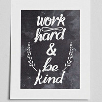 Work Hard Kid Art Print