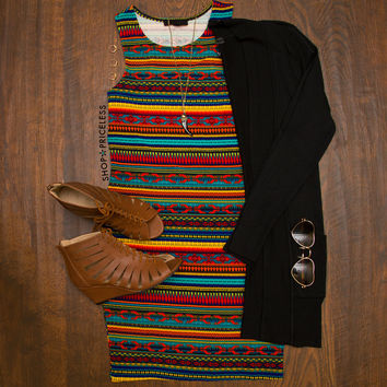 Tris Aztec Mini Dress