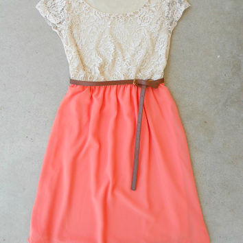 .Lace & Peach Dress : Vintage Inspired Clothing & Affordable Dresses, deloom | Modern. Vintage. Crafted.