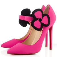 Christian Louboutin Pensee 120mm Satin Pumps Fuxia - $157