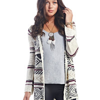 Tribal Snowflake Open Cardigan | Wet Seal