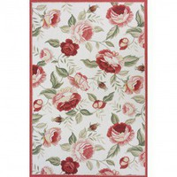 Momeni Spencer 15 White Country/Floral Rug - 039425968459 - Wool Rugs - Area Rugs by Material - Area Rugs