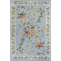 Momeni Spencer 16 Blue Country/Floral Rug - SP-16-Blue - Wool Rugs - Area Rugs by Material - Area Rugs
