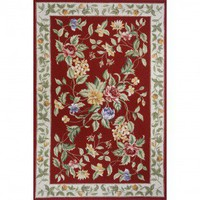 Momeni Spencer 16 Brick Country/Floral Rug - SP-16-Brick - Wool Rugs - Area Rugs by Material - Area Rugs