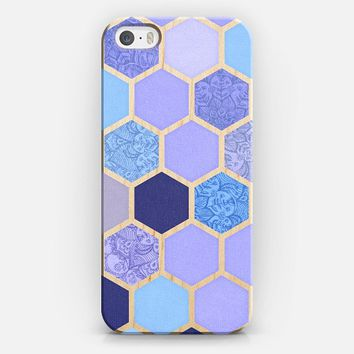 Lavender & Indigo Purple Hexagon Pattern iPhone 5s case by Micklyn Le Feuvre | Casetify