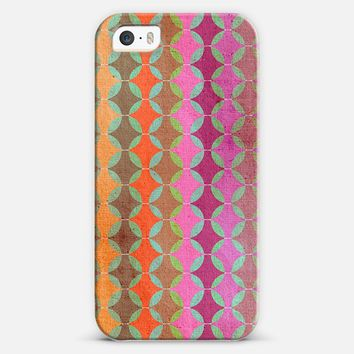 Color Harmonies - orange, pink, plum & olive circle textured pattern iPhone 5s case by Micklyn Le Feuvre | Casetify