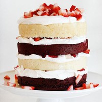 Red Velvet Strawberry Shortcake - i am baker