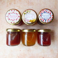 Set Of Three Tiny Jam Jars
